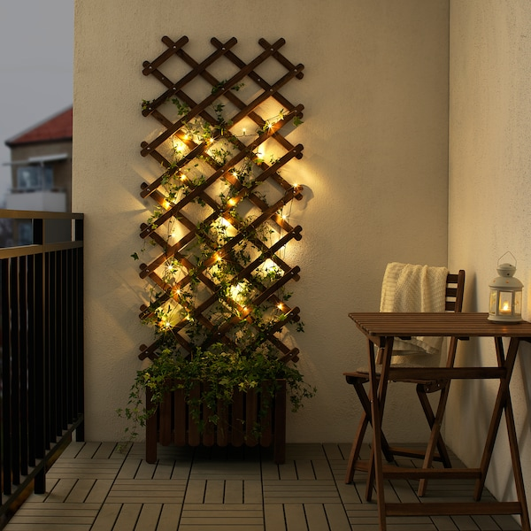 LEDLJUS LED svetlobna veriga z 24 lučkami, zunanje črna