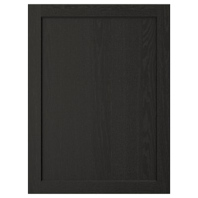 LERHYTTAN Vrata, črno luženo, 60x80 cm