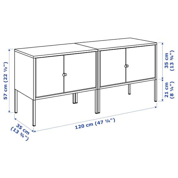 LIXHULT Sestav omaric, siva, 120x35x57 cm