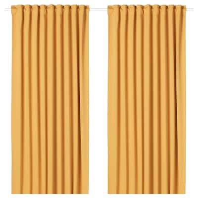 MAJGULL Zatemnitvene zavese, 1 par, rumena, 145x300 cm