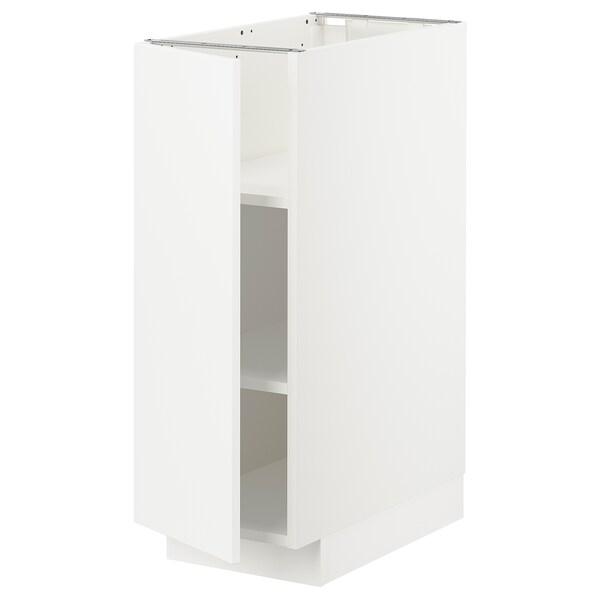 METOD Podstavna omarica s policami, bela/Veddinge bela, 30x60 cm