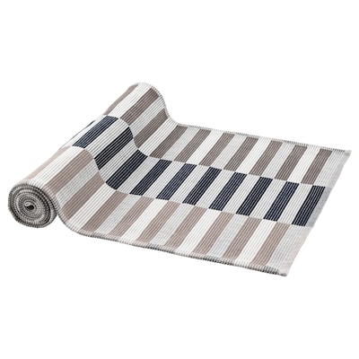 MITTBIT Namizni tekač, črna bež/bela, 35x130 cm