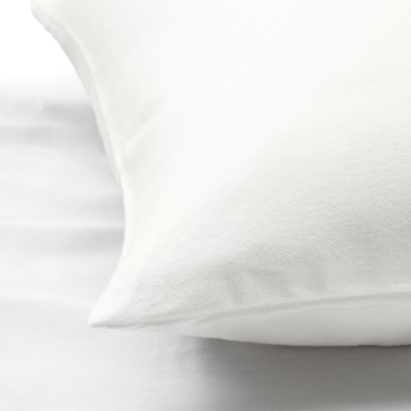 NORDRUTA Prevleka za vzglavnik, bela, 50x60 cm