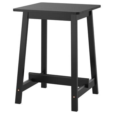NORRÅKER Barska miza, črna, 74x74x102 cm