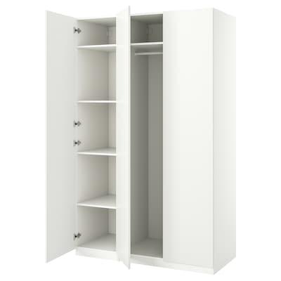 PAX / FORSAND Garderobni sestav, bela, 150x60x236 cm