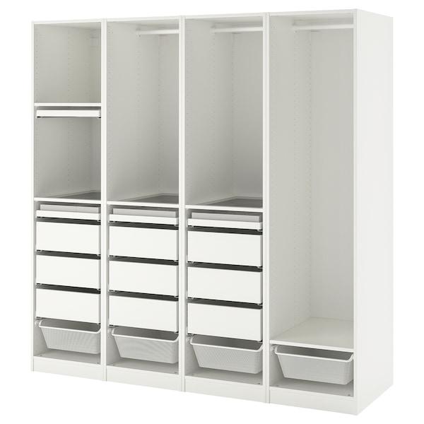 PAX Garderobni sestav, bela, 200x58x201 cm