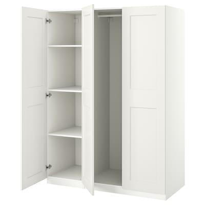 PAX / GRIMO Garderobni sestav, bela, 150x60x201 cm