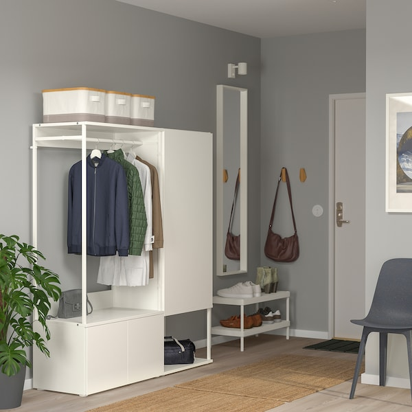PLATSA Garderobna omara s 3 vrati, bela/Fonnes bela, 140x42x161 cm