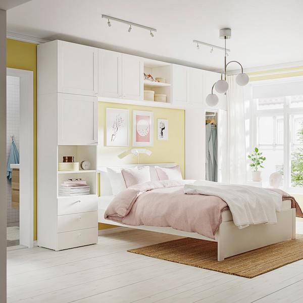 PLATSA Garderobna omara z 8 vrati+3predali, bela/Fonnes Sannidal, 340x42x241 cm