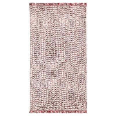 RÖRKÄR Preproga, plosko tkana, rdeča/naravna barva, 80x150 cm