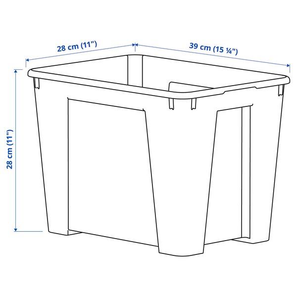 SAMLA Zaboj, prozorno, 39x28x28 cm/22 l