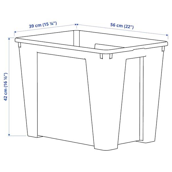 SAMLA Zaboj, prozorno, 56x39x42 cm/65 l
