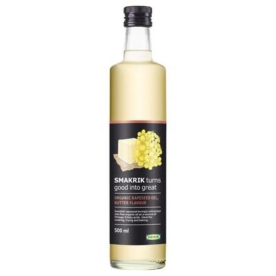 SMAKRIK Repično olje, z okusom masla ekološko, 500 ml