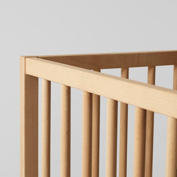 SNIGLAR Otroška postelja, bukev, 60x120 cm