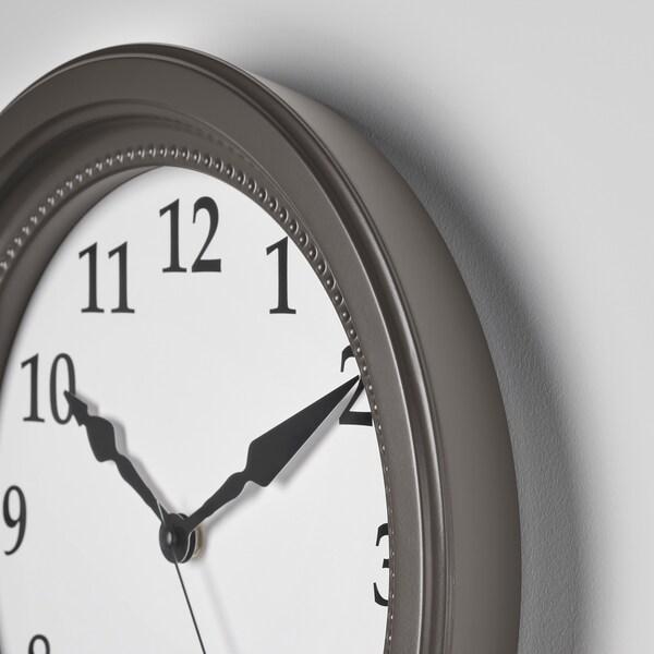 SÖNDRUM Stenska ura, siva, 35 cm