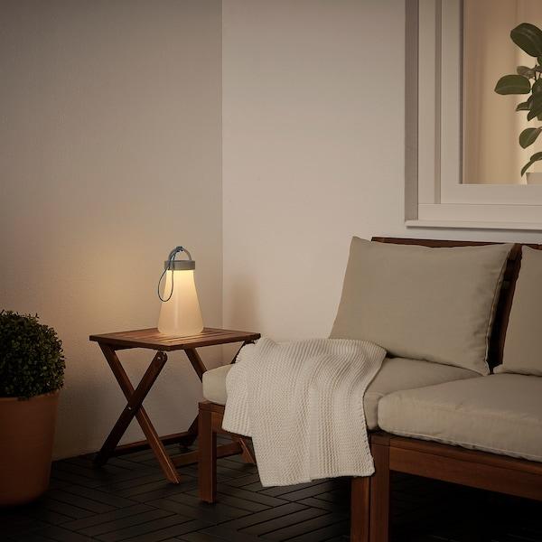 SOLVINDEN LED solarna namizna svetilka, siva/modra