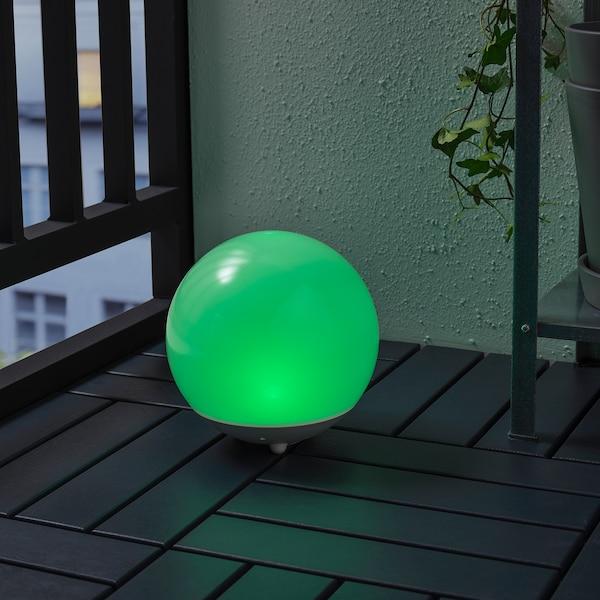 SOLVINDEN LED solarna svetilka, zunanje/okrogla bela