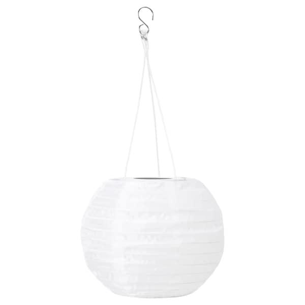 SOLVINDEN LED solarna viseča svetilka, zunanje/okrogla bela, 22 cm