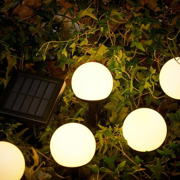 SOLVINDEN LED solarni količek, zunanje/5-stebelna bela