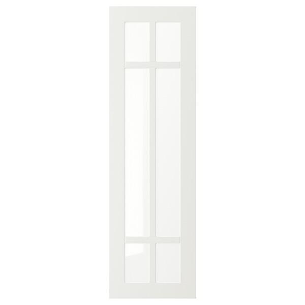 STENSUND Steklena vrata, bela, 30x100 cm