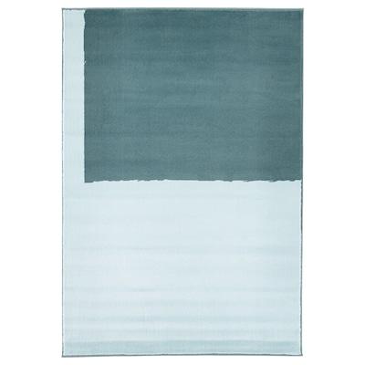 STILLEBÄK Preproga, nizek flor, modra, 133x195 cm