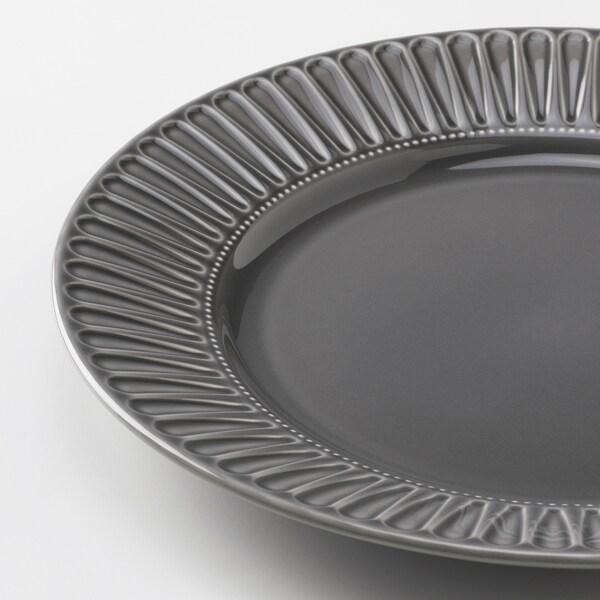 STRIMMIG Krožnik, lončevina siva, 27 cm