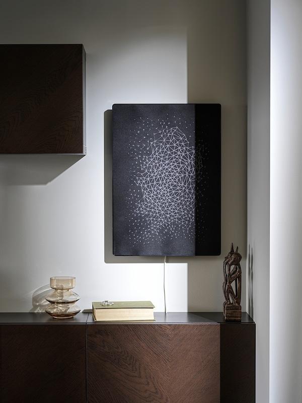 SYMFONISK Okvir za sliko z WiFi zvočnikom, črna