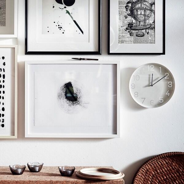 TROMMA Stenska ura, bela, 25 cm