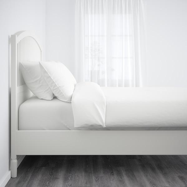 TYSSEDAL Posteljni okvir, bela/Lönset, 140x200 cm