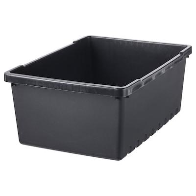 UPPSNOFSAD Zaboj za shranjevanje, črna, 35x25x14 cm/9 l