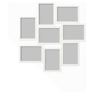 VÄXBO Kolaž okvir za 8 fotografij, bela, 13x18 cm