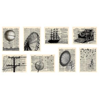 VÄXBO Okrasna voščilnica, časopisi, 13x18 cm