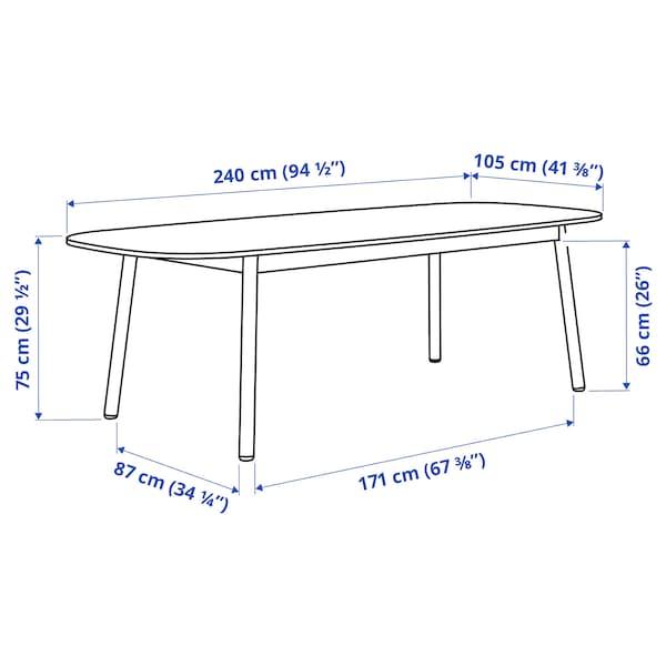 VEDBO Jedilna miza, črna, 240x105 cm
