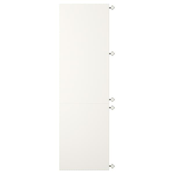 VEDDINGE Povezana vrata z odmičnimi sponami, bela, 60x200 cm