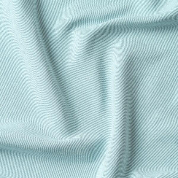 VILBORG Zatemnitvene zavese, 1 par, bela/turkizna, 145x300 cm