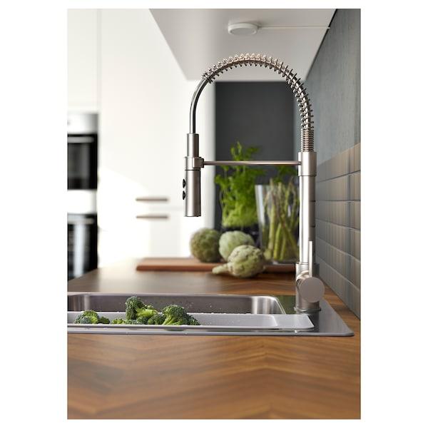 VIMMERN Kuhinjska mešalna armatura/prha, barva nerjavečega jekla
