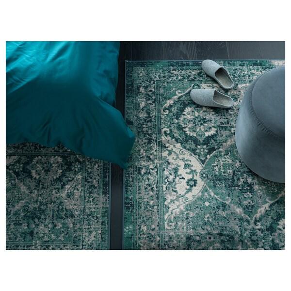 VONSBÄK Preproga, nizek flor, zelena, 133x195 cm