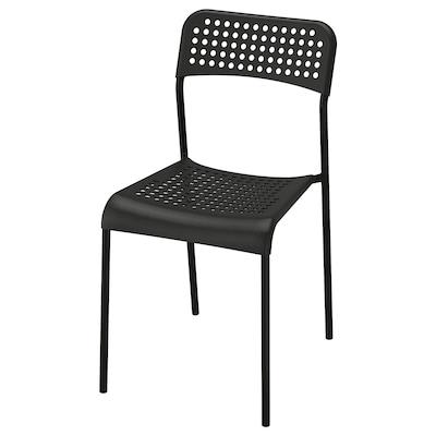 ADDE stolička čierna 110 kg 39 cm 47 cm 77 cm 39 cm 34 cm 45 cm