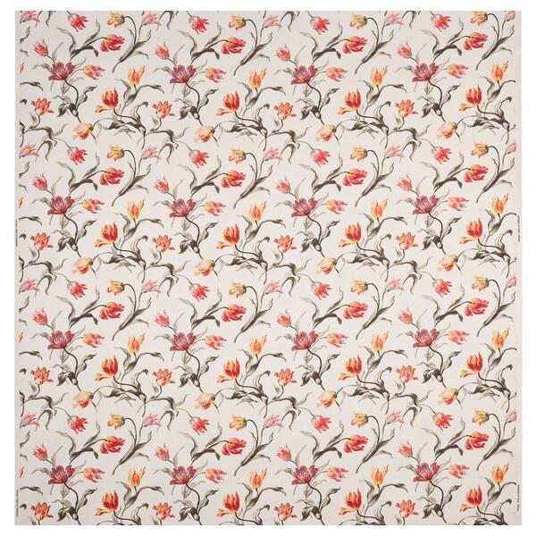 ÅLANDSROT Látka, prírodná/kvetinový vzor, 150 cm