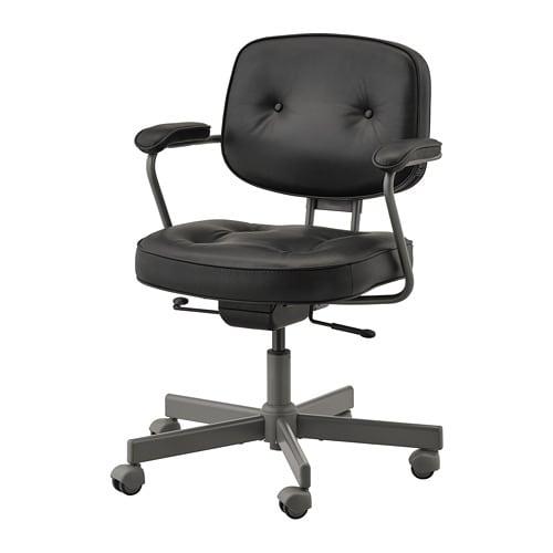c0b16791332f9 ALEFJÄLL Kancelárska stolička - Glose čierna - IKEA
