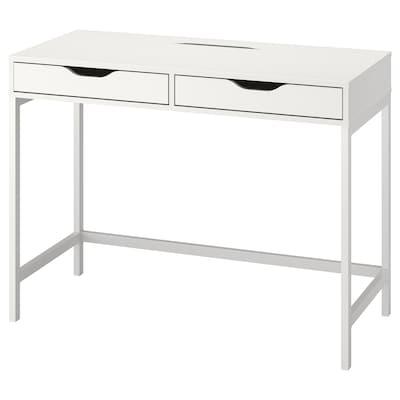 ALEX Stôl, biela, 100x48 cm
