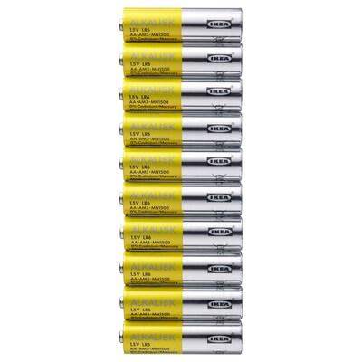 ALKALISK Alkalická batéria, LR6 AA 1.5V