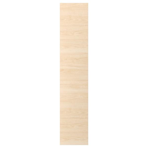 ASKERSUND Dvere, vzor svetl jaseňa, 40x200 cm