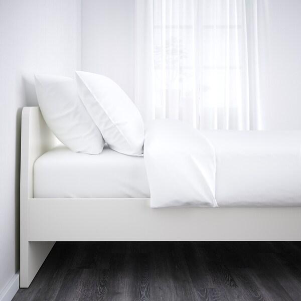 ASKVOLL Rám postele, biela/Luröy, 160x200 cm