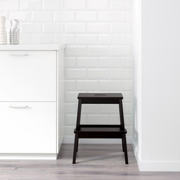 BEKVÄM Schodíky, čierna, 50 cm