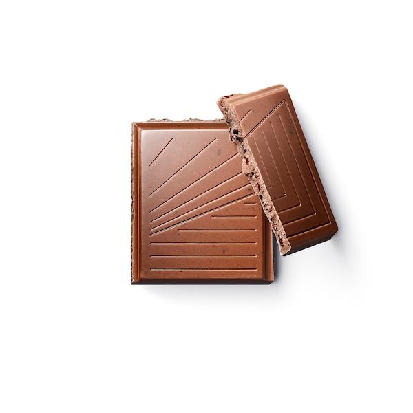 BELÖNING Mliečna čokoláda, Čučoriedky Certifikát UTZ, 100 g