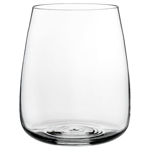 BERÄKNA váza číre sklo 18 cm