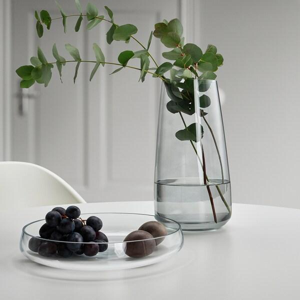 BERÄKNA Váza, svetlosivá, 30 cm