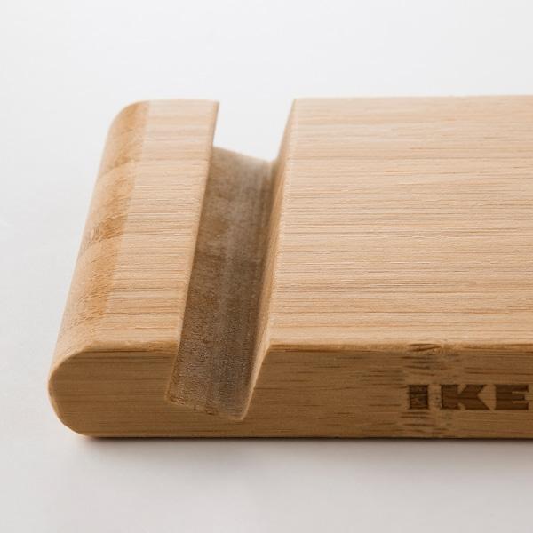 BERGENES Stojan na mobil/tablet, bambus