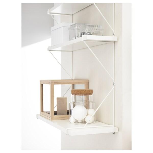 BERGSHULT / PERSHULT Nástenná polica, biela/biela, 80x20 cm